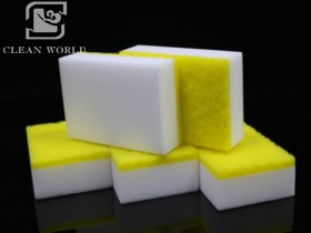 Melamine Foam Cleaner With Scouring Pad