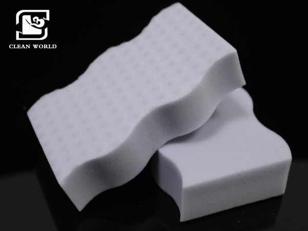 waved compressed melamine foam