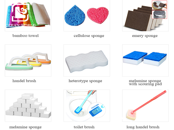 the categories of related cleaning products