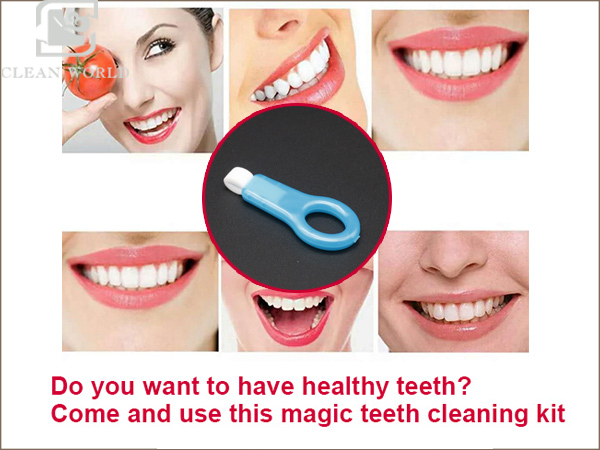 the using effect of magic teeth cleaning kit