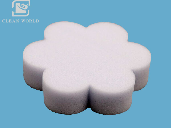 flower shape melamine foam cleaning sponge