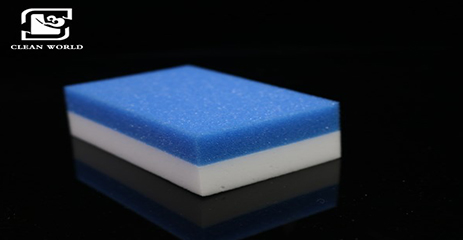 Cleaning Compound Melamine Foam With PU Sponge