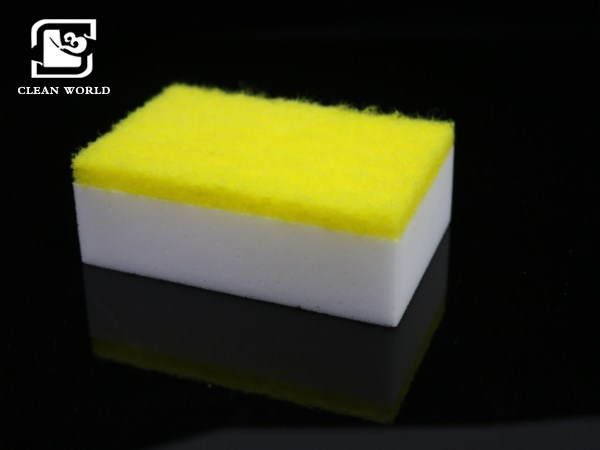 magic sponge with scouring pad