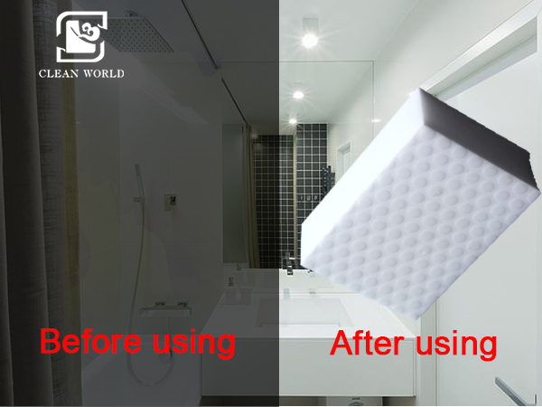 magic foam sponge bathroom cleaning pads