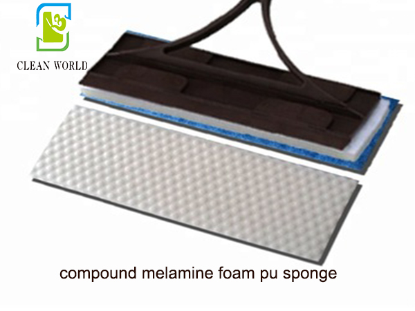 compound melamine foam pu sponge on floor