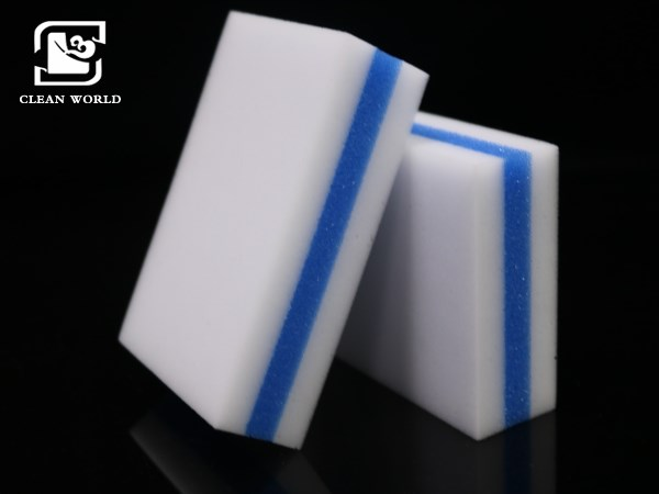 three layers of compound melamine foam sponges