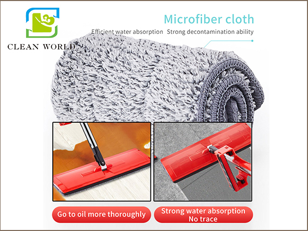 microfiber cloth of lazy mop