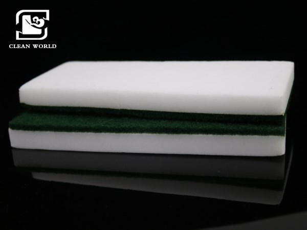 green color melamine foam eraser pad for cleaning