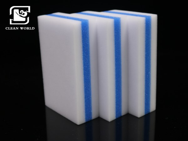 compound blue and white melamine foam cleaning blocks