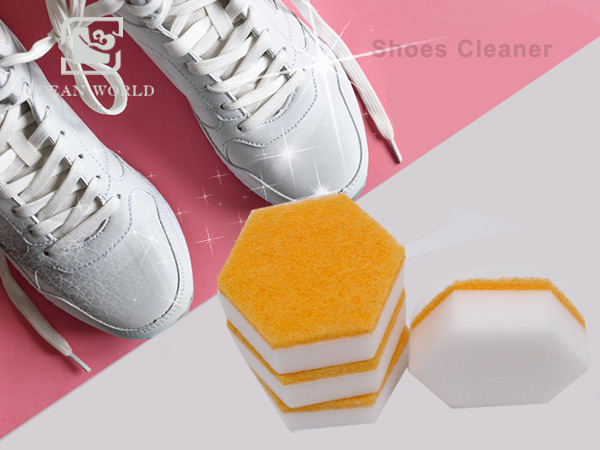 hexagon melamine foam shoes cleaner exported to america