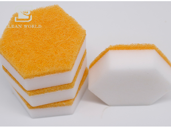 melamine foam customized hexagon shape
