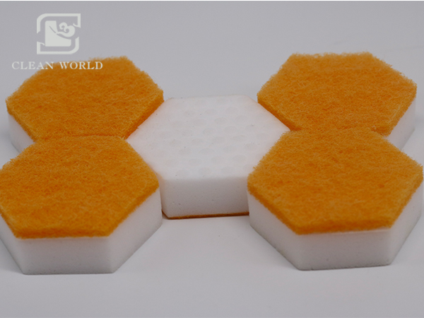 melamine-foam-customized-hexagon-shape