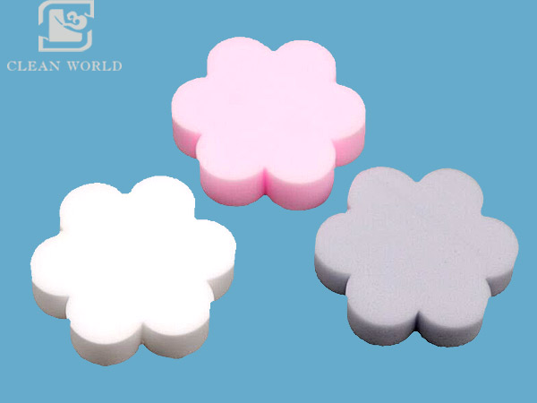 flower shape customized melamine foam sponge manufacturer